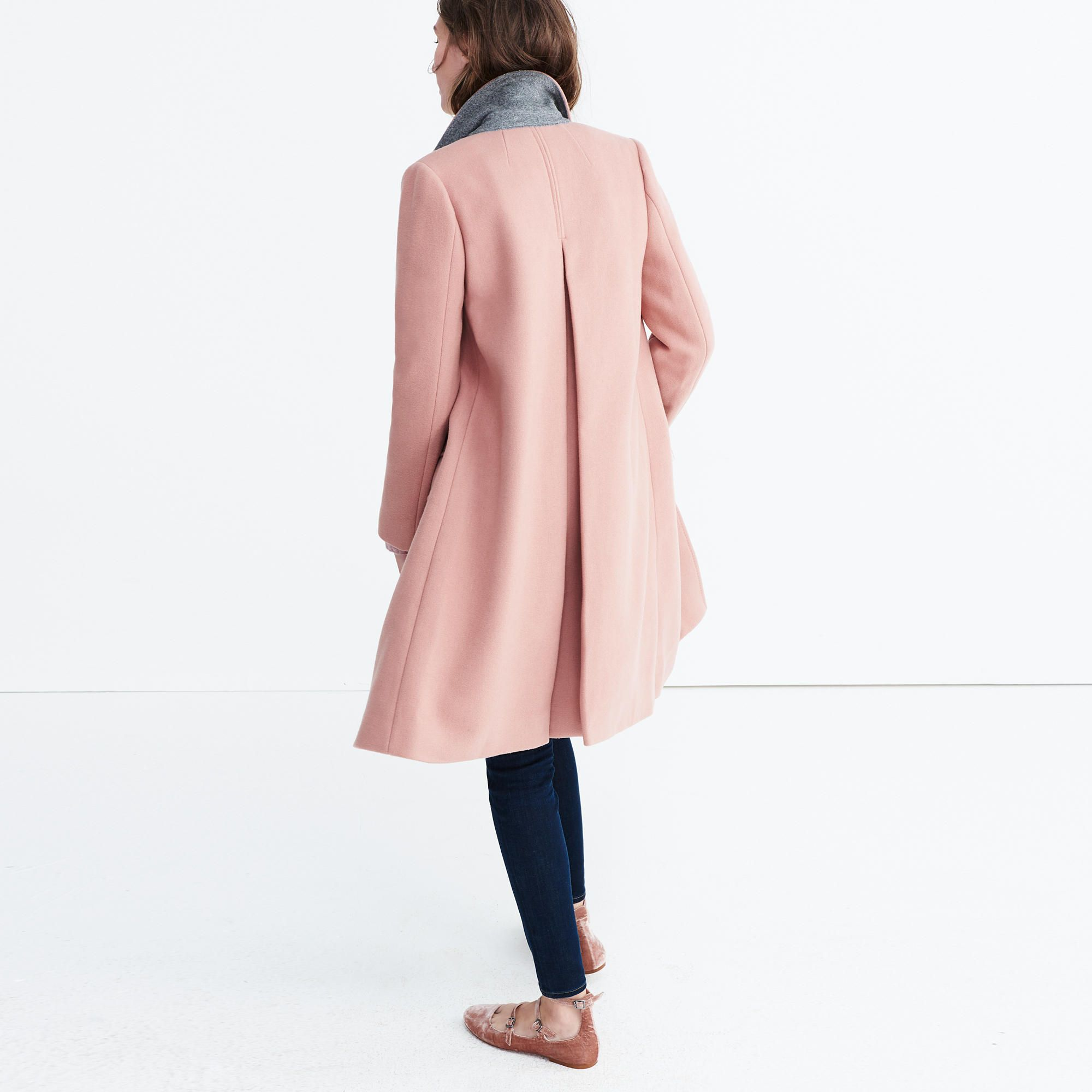 Teatro Swing Coat in Old Rose | Coats, Jackets and Teatro
