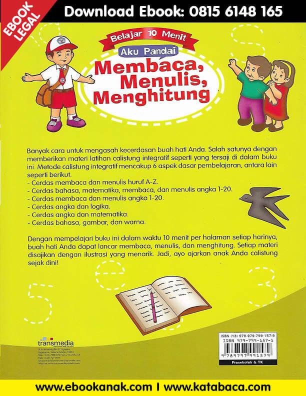 Download Ebook 10 Menit Pintar Calistung Di 2020 Belajar Membaca Buku