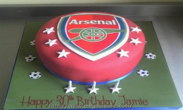 Arsenal Birthday Cake Tesco Picture Birthday Cake Pinterest