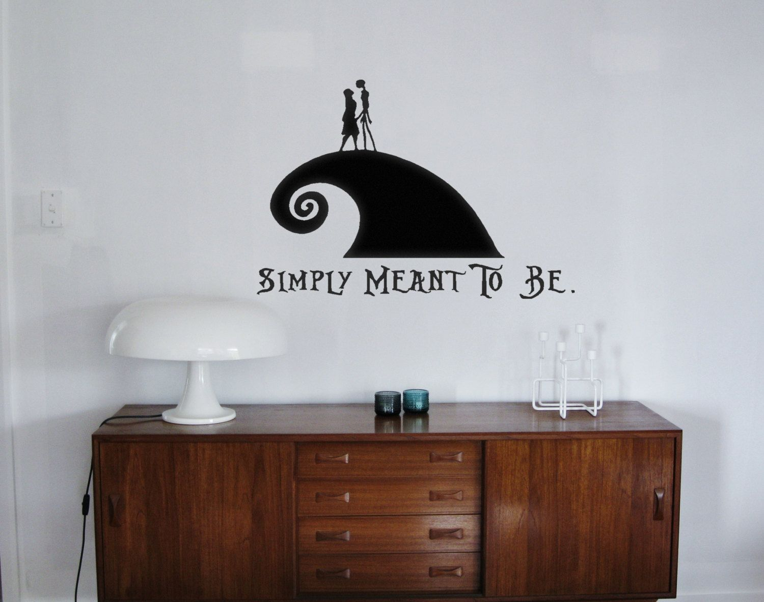 Nightmare Before Christmas Inspired Vinyl Wall Decals Jack And Sally ...