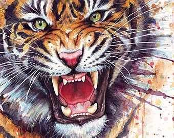 Colorful Wild Animal Paintings Google Search Animal Art