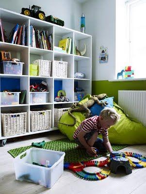 Cute Playroom Storage Idea