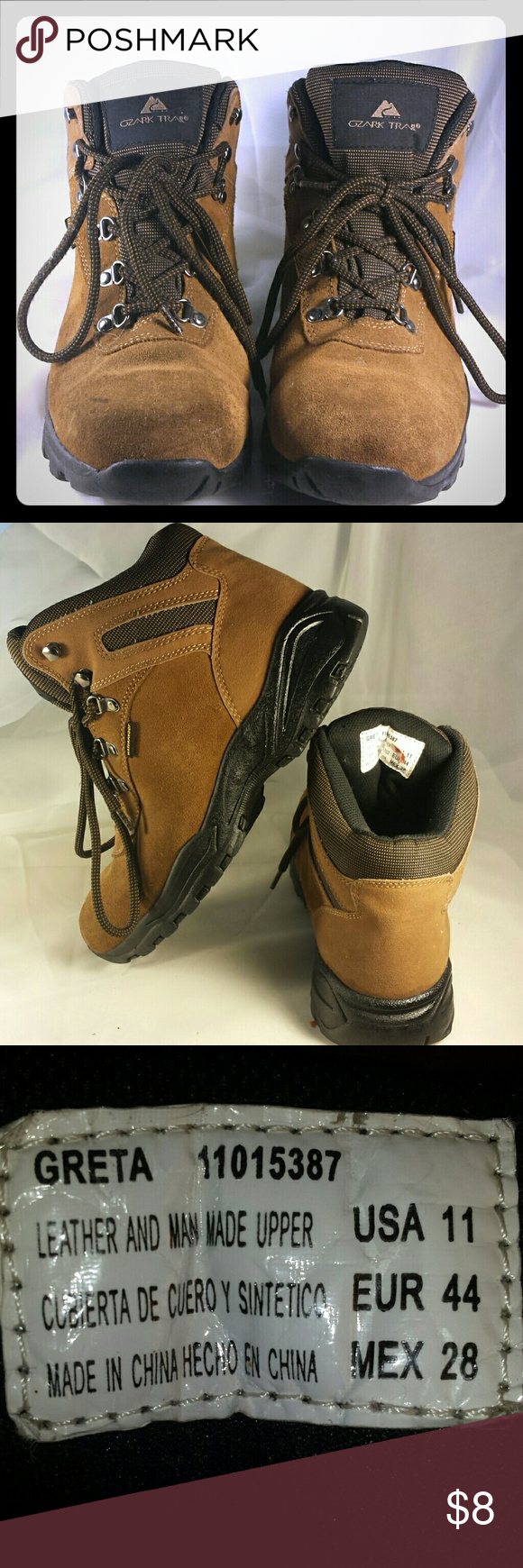 18d2ec5e0b3 Ozark Trail Sz 11 Greta Waterproof Hiking Boots This is a very nice ...