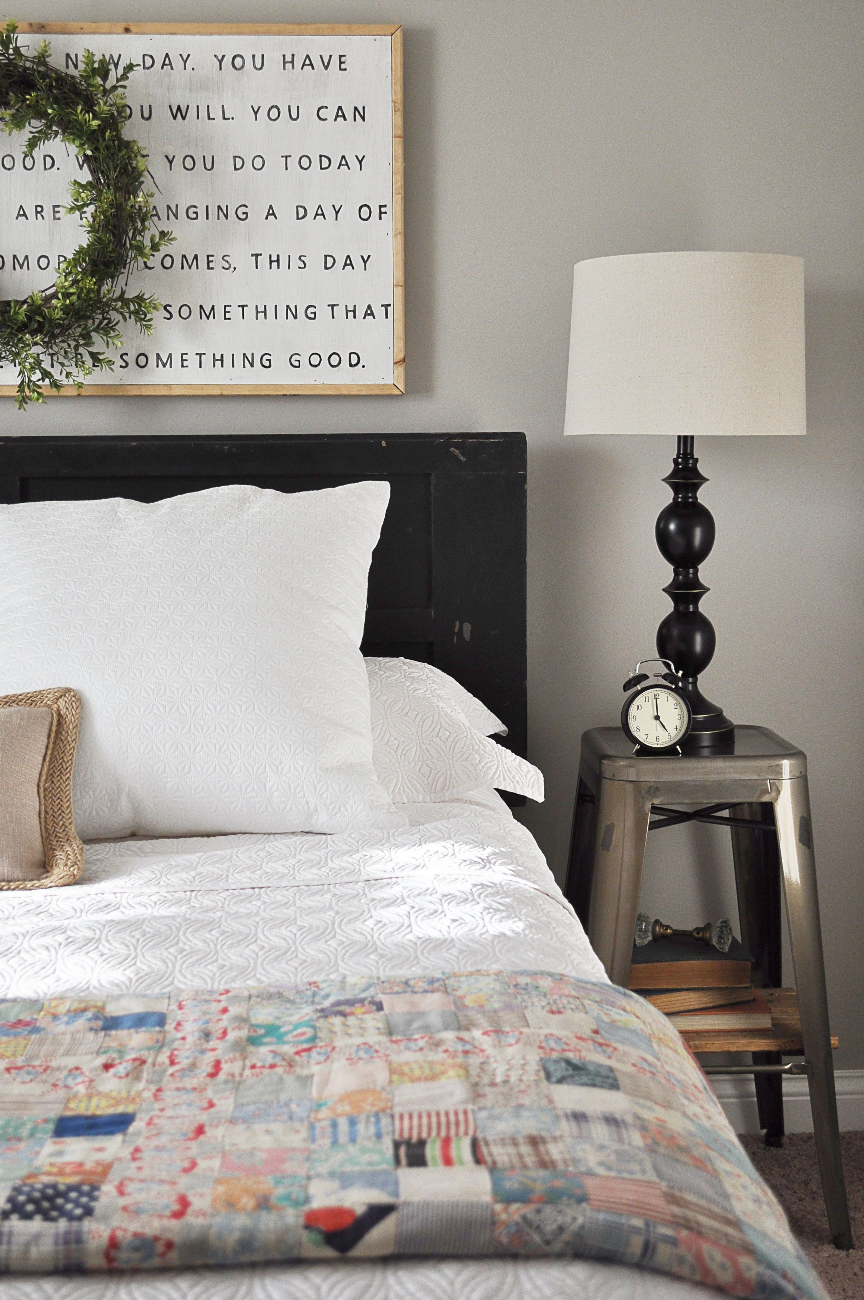 Farmhouse Guest Bedroom | Bedrooms, Master bedroom and Room for Industrial Farmhouse Bedroom  269ane