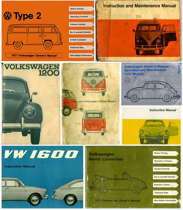 VW owners manuals--love the type/color combos  #volkswagen