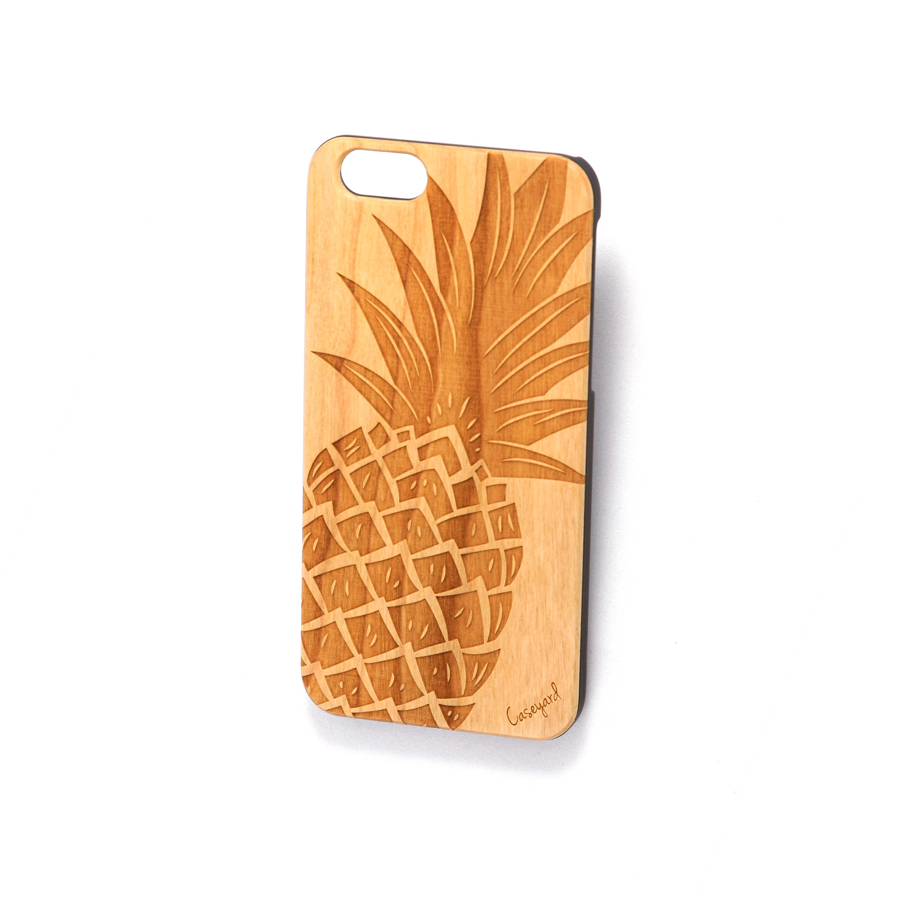 Wooden pineapple iphone case iphone 6 case iphone 5 case iphone cases wood case iphone case