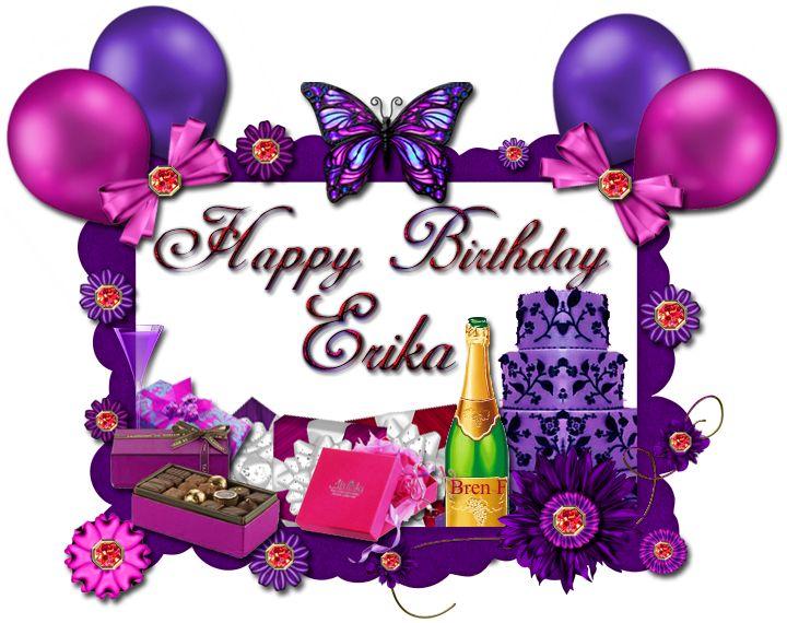 Happy Birthday Erika Happy Birthday Birthday Cake