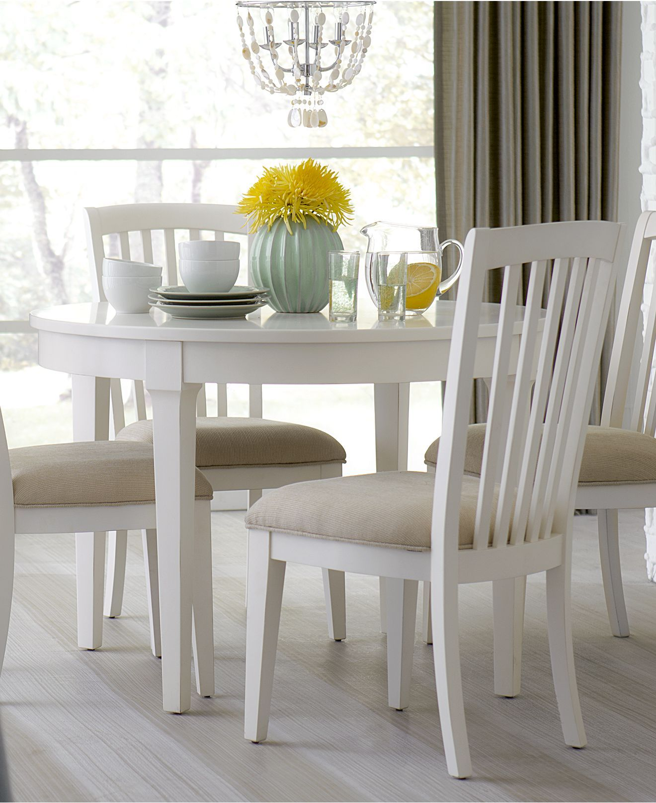 Luxury Small Round Dining Table for 4