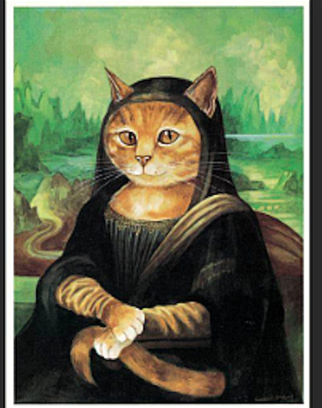 Pin By Feralartist On Animaux Drôles In 2021 Art Parody Cat Art Famous Art