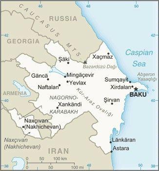 Map of Azerbaijan © CIA World Factbook