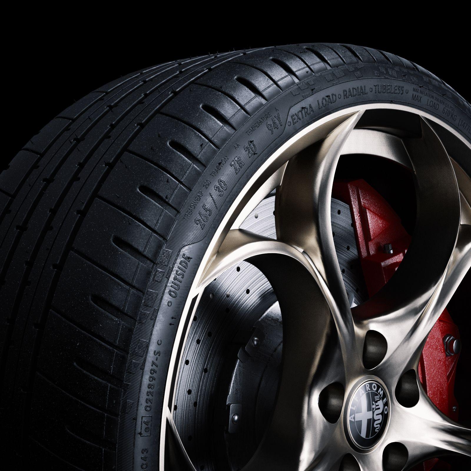 Alfa Romeo Giulia Tire Full CGI & Retouching on Behance