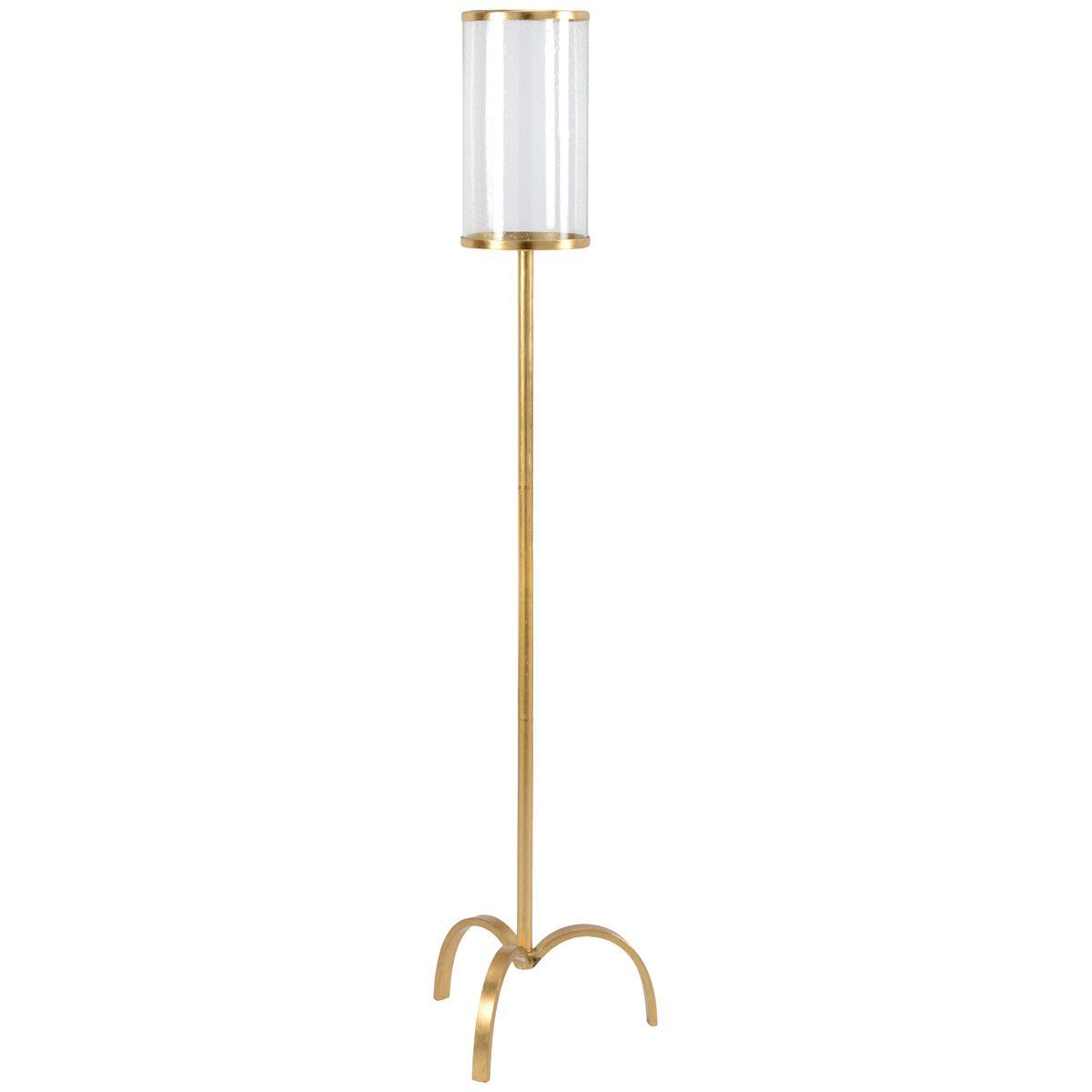 Chelsea House Clover Iron with Clear Glass Candleholder