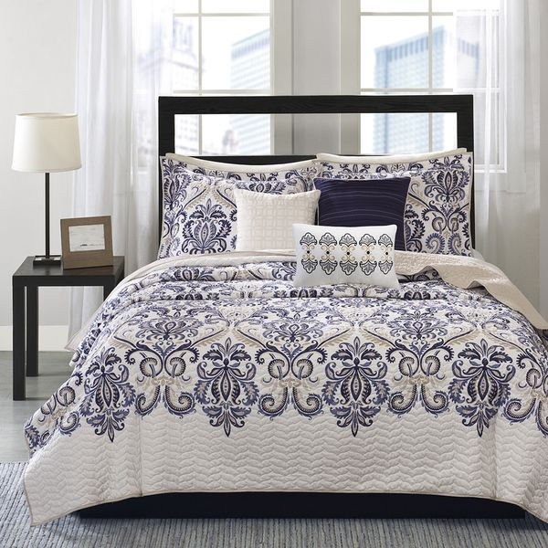 Madison Park Cardiff 6 Piece Quilted Coverlet Set   Overstock™ Shopping    Great Deals