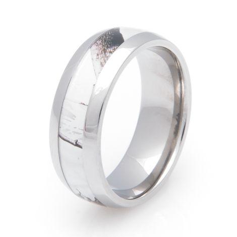 mens titanium realtree ap snow camo wedding ring - White Camo Wedding Rings