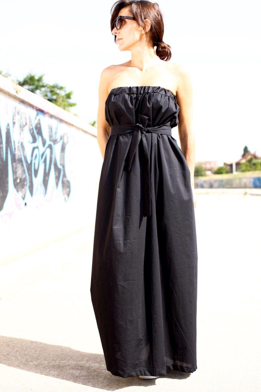 Black off the shoulder dresslong cotton dressmaxi dresssummer