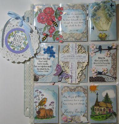 """Kunst á la Card: 2 Pocket Letter zum Thema """"Ostern"""""""