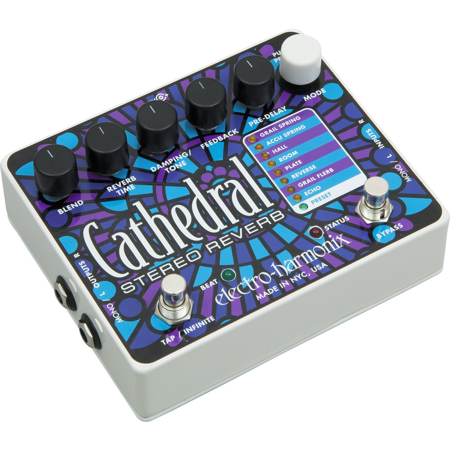 cathedral stereo reverb guitar effects pedal guitar guitar effects pedals guitar pedals guitar. Black Bedroom Furniture Sets. Home Design Ideas