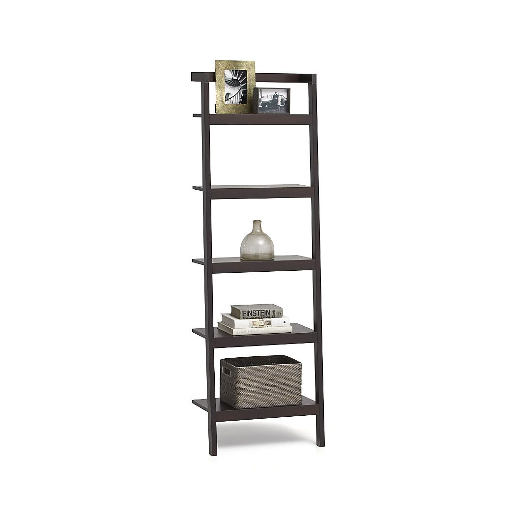 Shop sawyer mocha leaning 24 5 bookcase space saving clean looking sawyer uses an ingenious leaning modular design to creatively solve storage