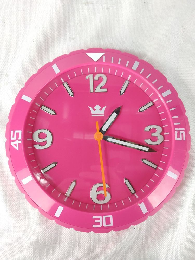 Hot Pink Sempre Model No 92117 92117 05 Quartz Wall Clock 11 Diameter Sempre Roman Numeral Wall Clock Clock Wall Clock