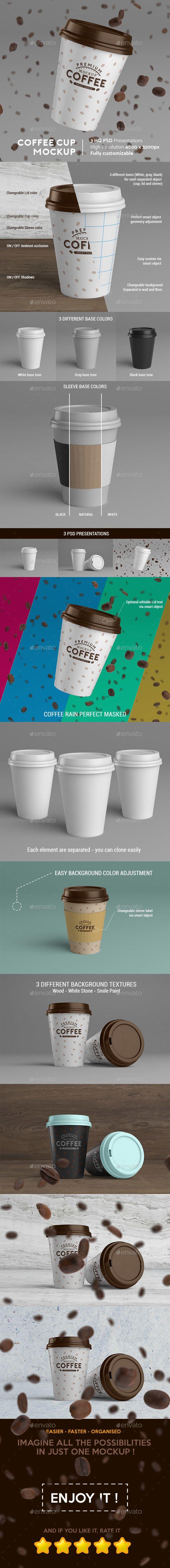 Coffee Cup MockUp Food and Drink Packaging