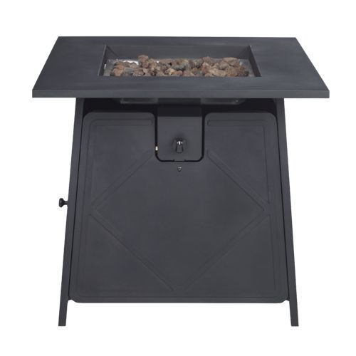 Mosaic 28 In Kingsland Gas Fire Pit Black   Patio Furniture/Accessories,  Patio Accessories