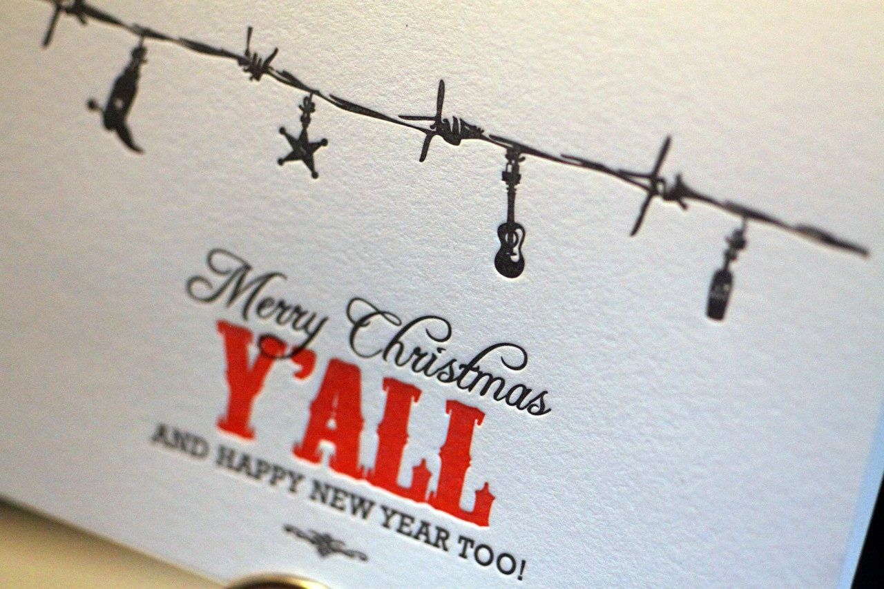 Western Christmas Cards with Cranes envelopes. via Etsy.   The ...
