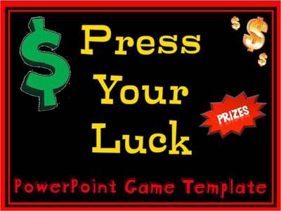 powerpoint game – plays like press your luck from mrs twin mommy, Modern powerpoint