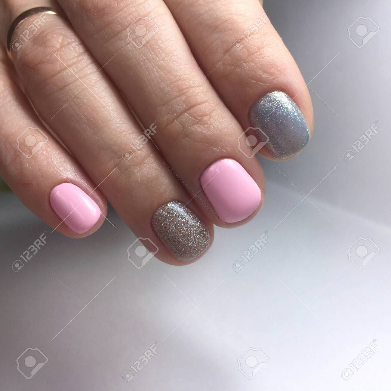 Manicure Of Different Colors On Nails Female Manicure Affiliate Colors Manicure Nails Manicure Female In 2020 Nails Manicure Art Logo