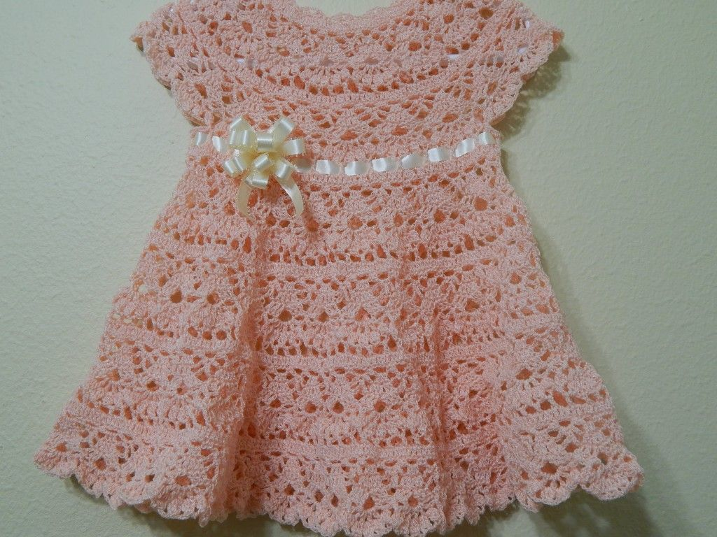 17191d8a8 Vestido a crochet para Bebe | vestidos bellos para niñas | Vestidos ...