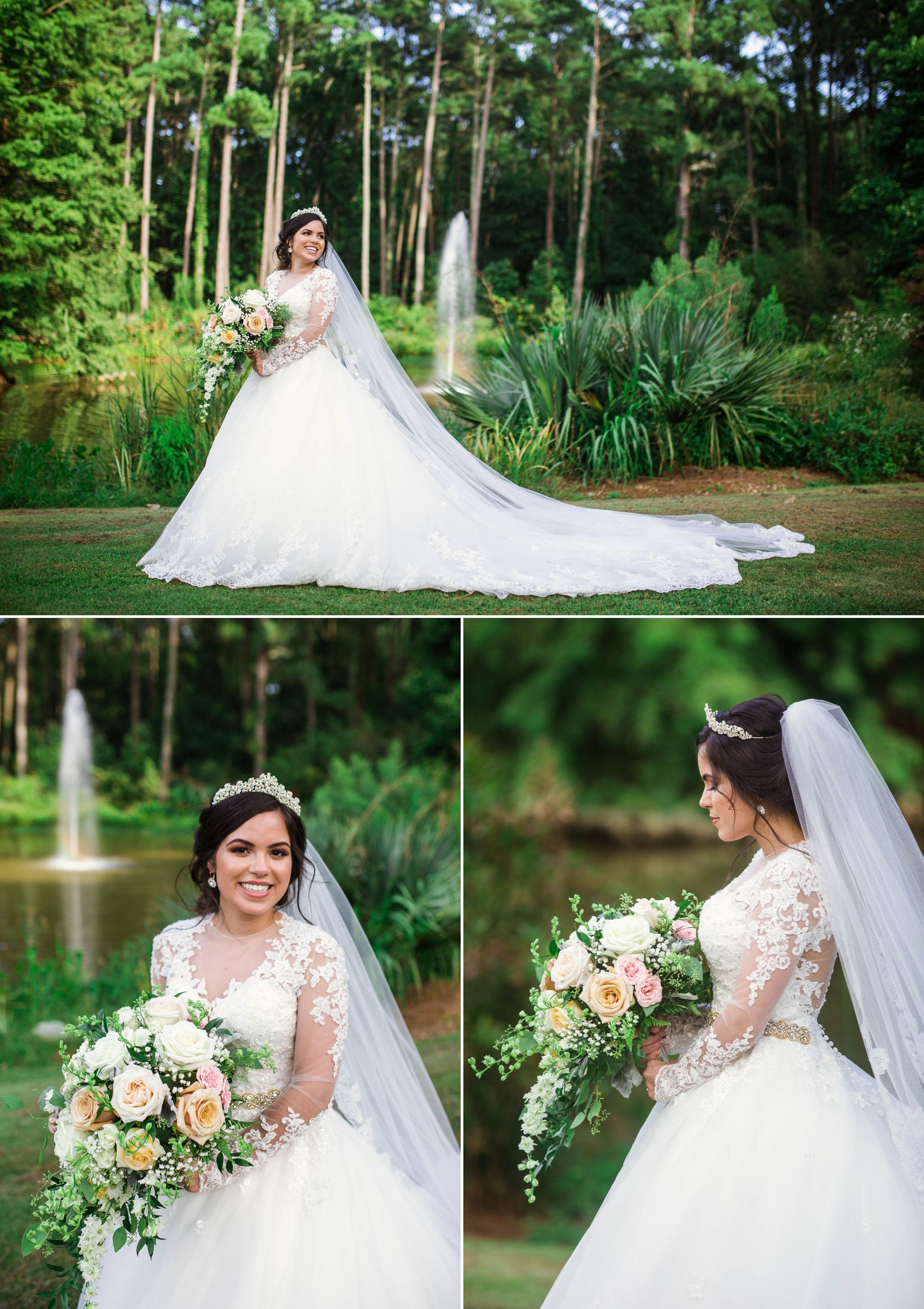 Yansi + Eddie Wedding at the Cape Fear Botanical Gardens