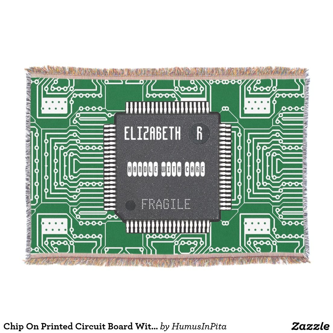 Chip On Printed Circuit Board With Your Name Throw Wear Different As Before We Can Copy The Onto A And