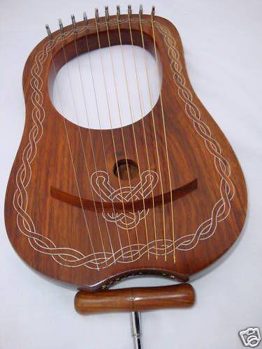 Lyra Harp Rosewood 10 Metal Strings//Rosewood Lyre Harp Metal Strings Free Case