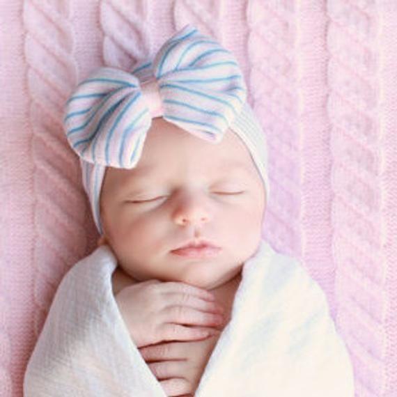 newborn baby newborn hospital hat BABY GIRL HAT INFANTEENIE BEENIE pink