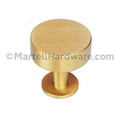 ... Hardware [31-001] Solid Brass Cabinet Knob - Disc Knob Series - Brushed Brass Finish - 1 1/8  Dia. | MartellHardware.com - Decorative Hardware Supplier  sc 1 st  Pinterest & Lewu0027s Hardware [31-001] Solid Brass Cabinet Knob - Disc Knob Series ...