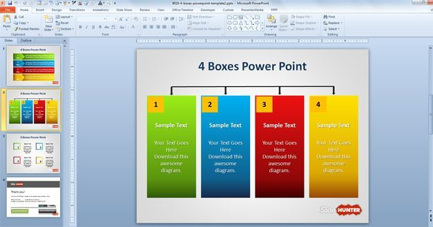 example of four columns in powerpoint template | p | pinterest, Sample Presentation Slides Template, Presentation templates