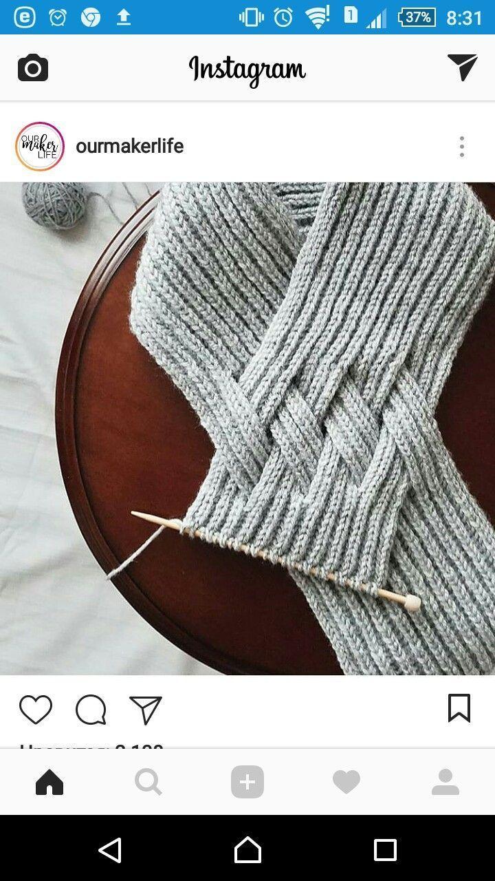 Geflochtener Schal #crochetbraids
