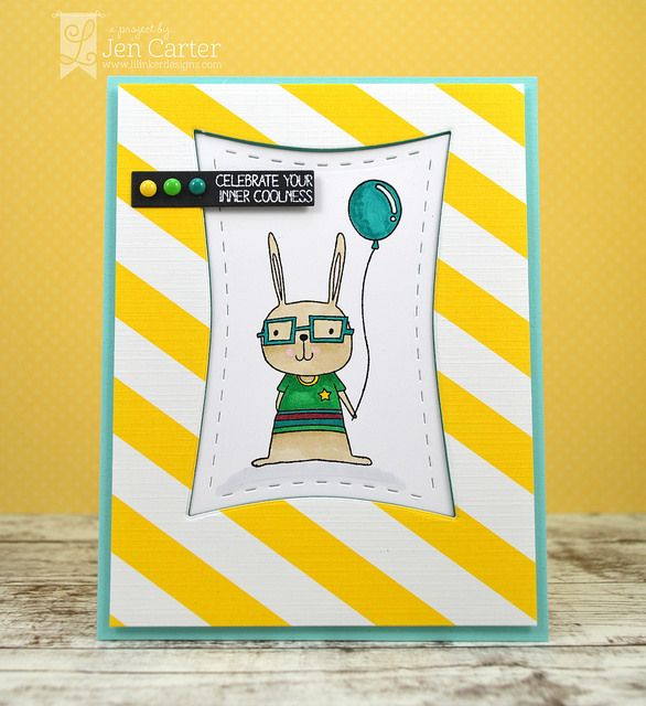 Jen Carter, card, Bunny Buddies,  Coolness, Lil' Inker Designs, LID, masculine