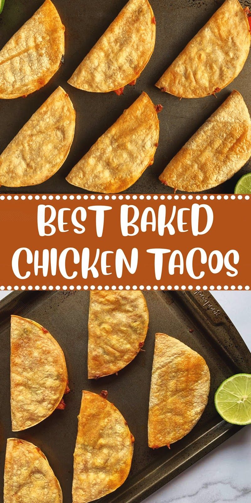 BEST BAKED CHICKEN TACOS