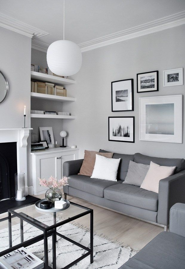 My soft minimalist living room makeover  the reveal these four walls blog also home pinterest rh