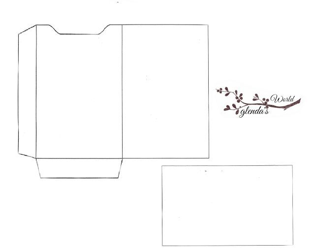 Free-printable Gift Card Sleeve with Card template Artesanato