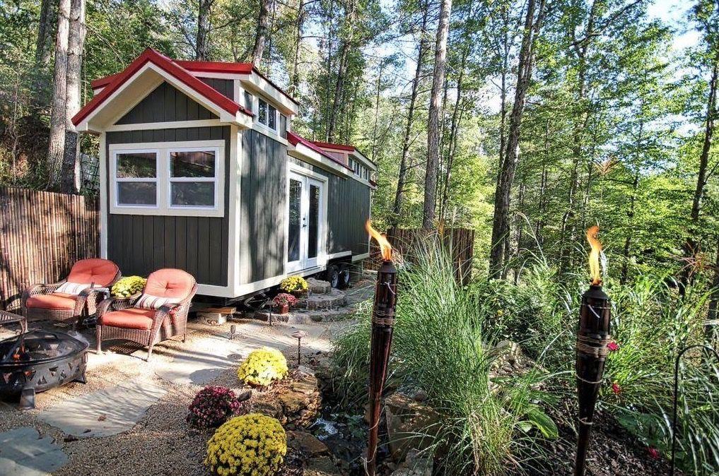 Wondrous Luxury Tiny House For Sale On 2 5 Acres Near Asheville Nc Download Free Architecture Designs Remcamadebymaigaardcom