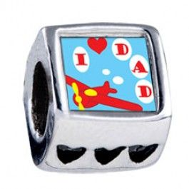 I Love Dad Photo Heart Charms  Fit pandora,trollbeads,chamilia,biagi,soufeel and any customized bracelet/necklaces. #Jewelry #Fashion #Silver# handcraft #DIY #Accessory