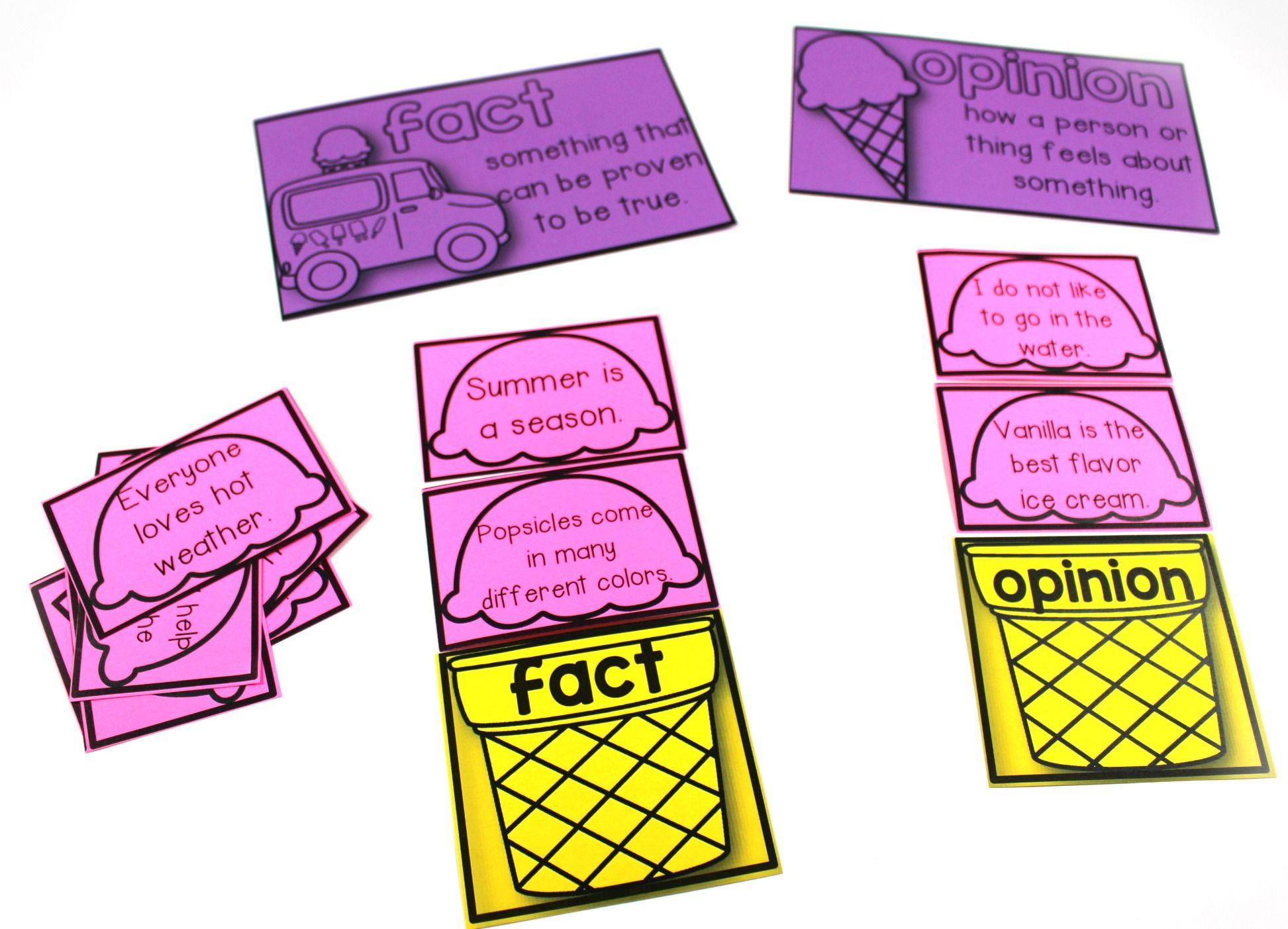 Fact Opinion Worksheet
