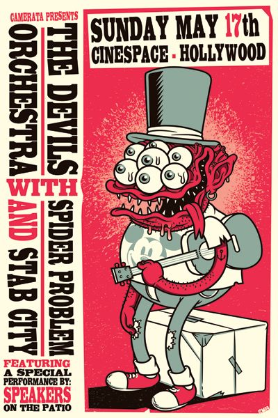 GigPosters.com - Devils Orchestra, The - Spider Problem - Stab City