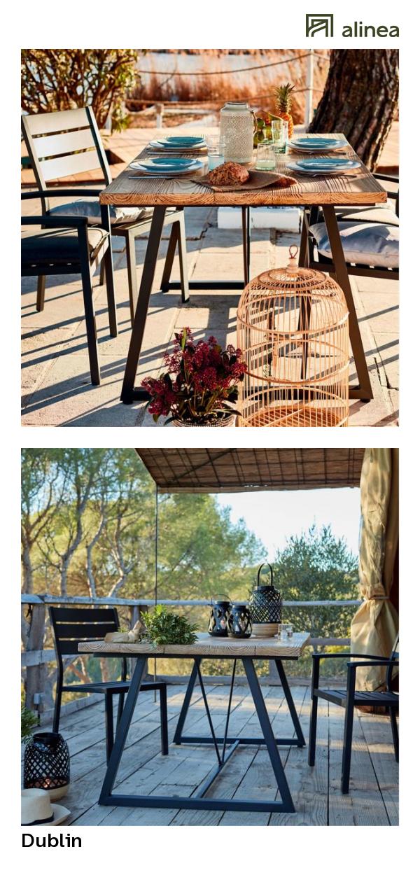 alinea : dublin table de jardin en résine et fer (4 à 6 ...