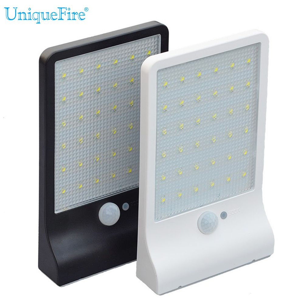 Uniquefire newest leds solar power street lighting wall lamp pir