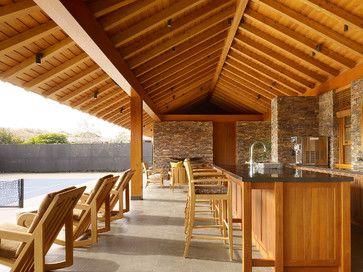 tennis pavilion - tropical - patio - san francisco - zak ... - Tropical Patio Design