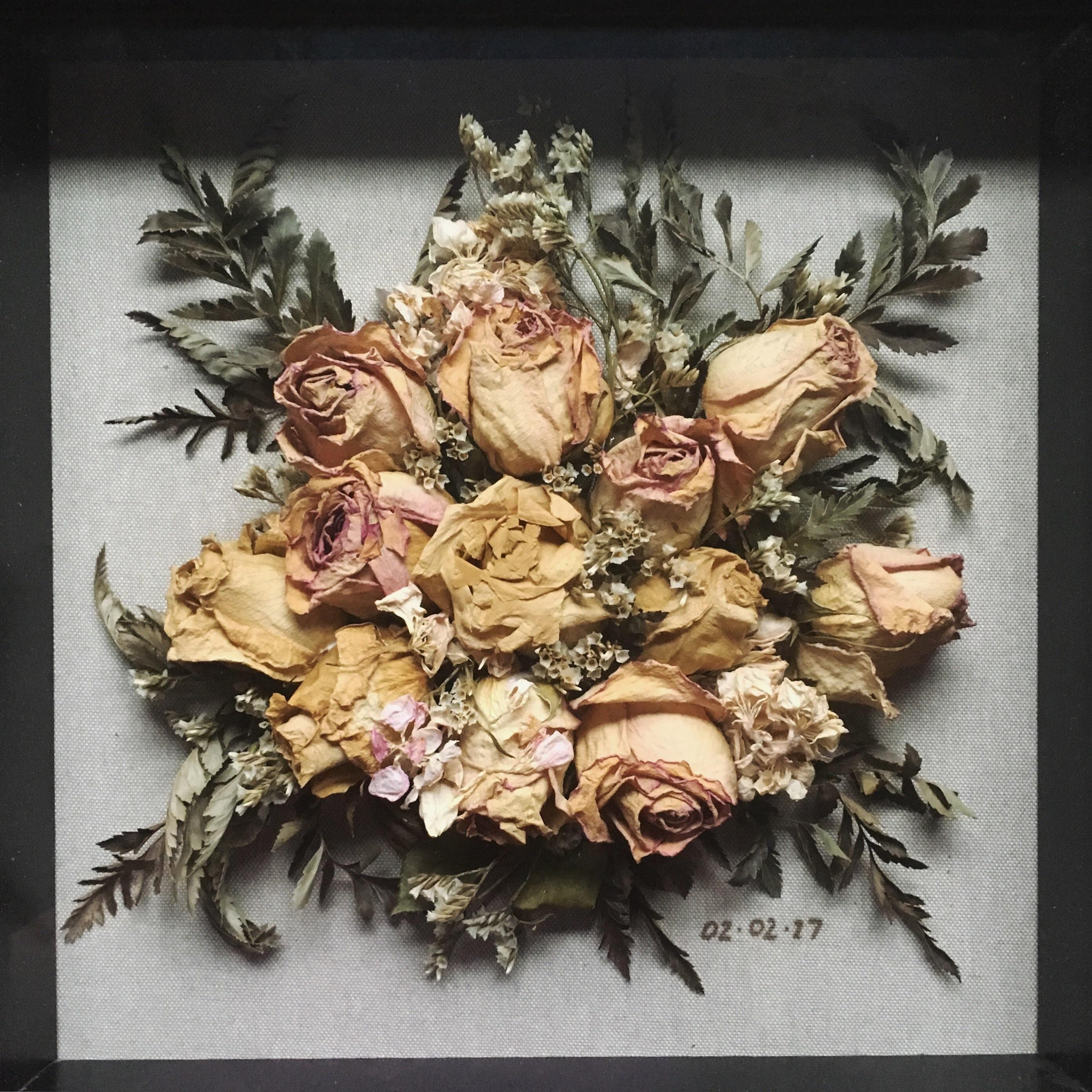 Shadow Box Frame Dried Wedding Bouquet Wedding Shadow Box
