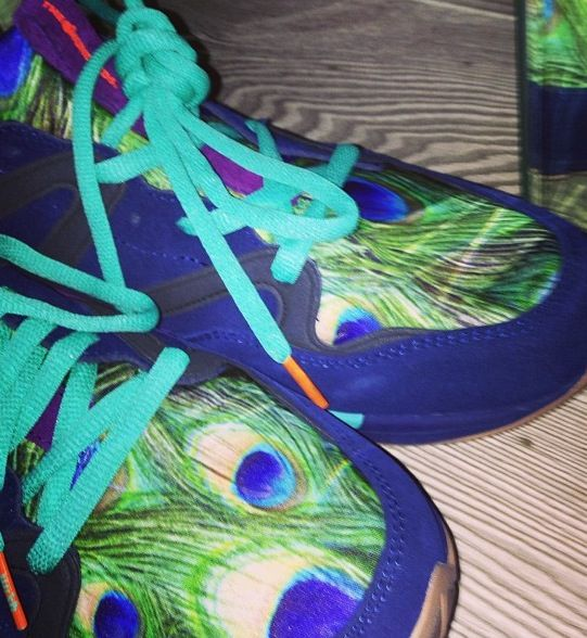 Peacock sneakers