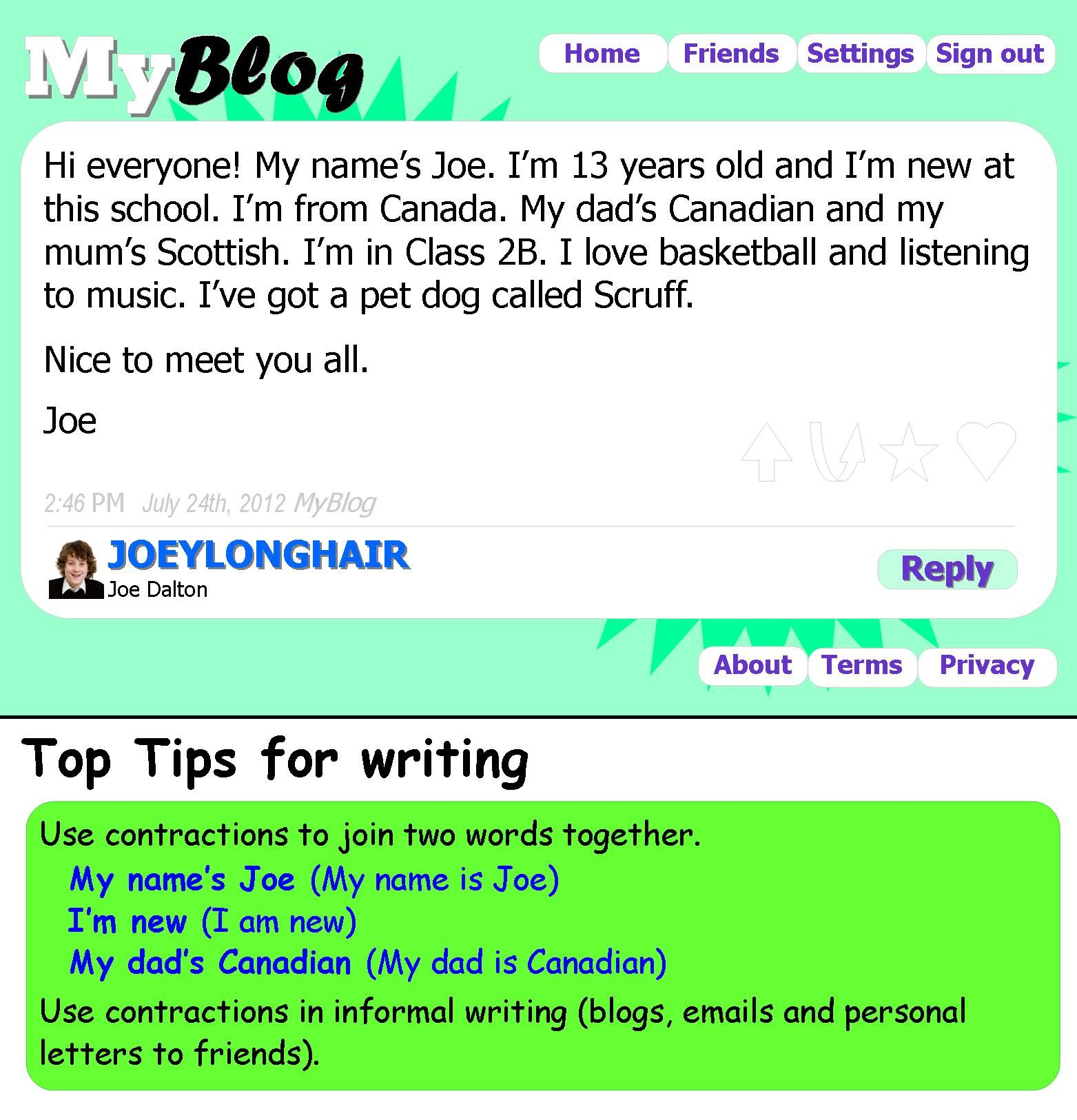 Introducing yourself on a blog English Pinterest